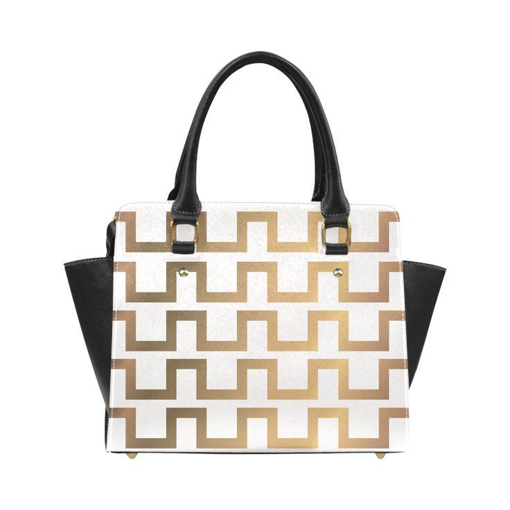 Exclusive Luxury Gold Bag 20s & 30s Inspired Set Classic Shoulder Handbag (Model 1653).