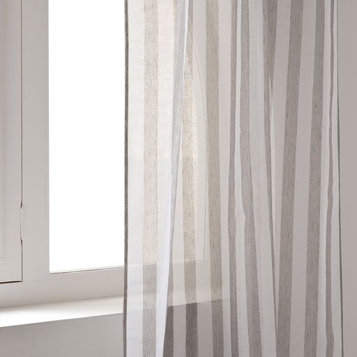 Image of the product STRIPED LACE CURTAIN