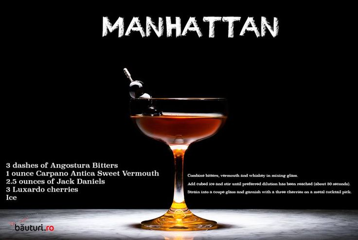 This weekend you'll have a Manhattan relaxation, thanks to old friend Jack: https://www.bauturi.ro/whisky-jack-daniels/old-no-7 and https://www.bauturi.ro/bitter-vermut