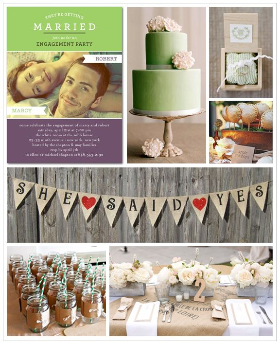 Casual Engagement Party Inspiration...love this! Would add more colors like purple and blue