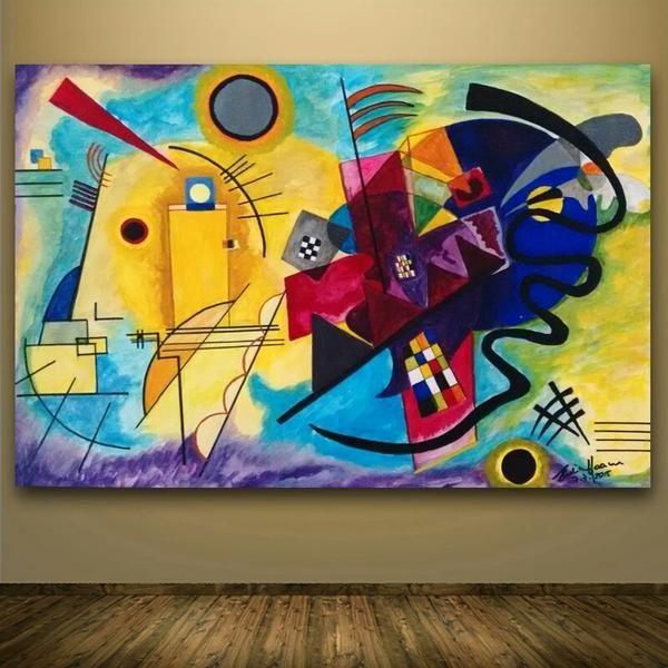 Tableau Peinture Abstraite Vassily Kandinsky En 2020 Peinture