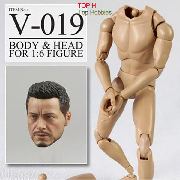 """Veryhot New 1/6 Toys Scale Body Christian Bale VS019 Head +Body Fit 12"""" Hitfigure Narrow Shoulder #Affiliate"""