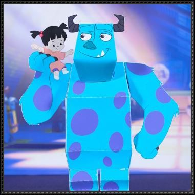 Monsters inc. Sullican and Boo paper craft #FLVS #paperpaperpaper