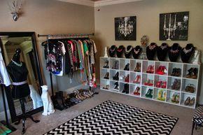 La conversión de un dormitorio en un walk-in closet (conversión de dormitorio en, en walk-in closet)