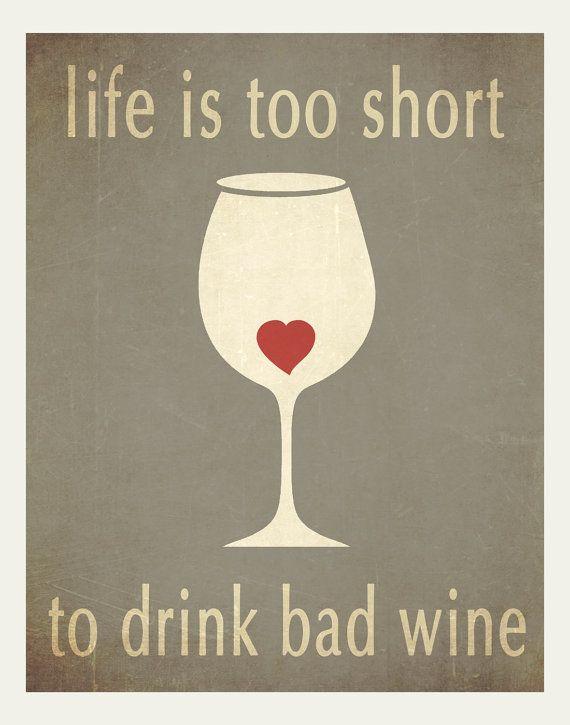 Affiches typographiques vin art impression par HappyLetterShop