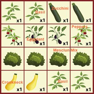 Cash Crop Planting Menu The Cash Crop collection contains 5 prolific organic varieties including Black Beauty Eggplant, Mesclun Salad Mix, Yellow Crookneck Squash, Cocozelle Zucchini, Ancho Poblano Pepper, and Genovese Sweet Basil. This collection will produce up to $150 worth of garden fresh, organic produce in a single season. That's …