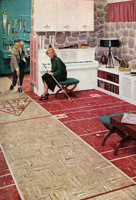 Basement / Garage (1955) - My Dad had a shelf board floor like this in the house he grew up in. My Grandpa but it in.