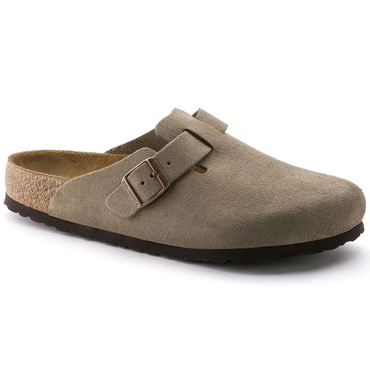 Birkenstock Women's Boston Soft Footbed Taupe Clogs (N)