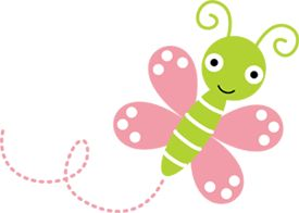 Pink Green Bugs Butterfly Dragonfly Baby Girl Nursery Wall Border ...