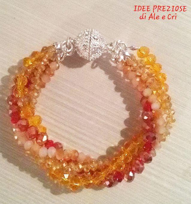 """Braccialetto / bracelet """"Idee Preziose di Ale e Cri"""""""