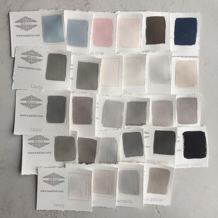 handpainted colour samples #kalklitir