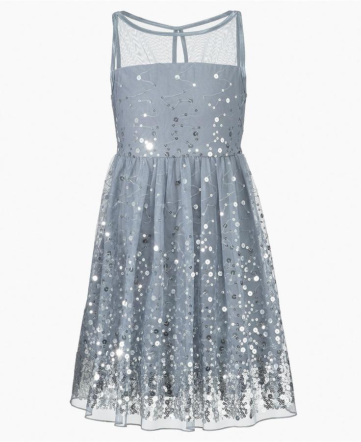 Ruby Rox Kids Dress, Girls Sequin Illusion Dress - Kids Dresses - Macy's