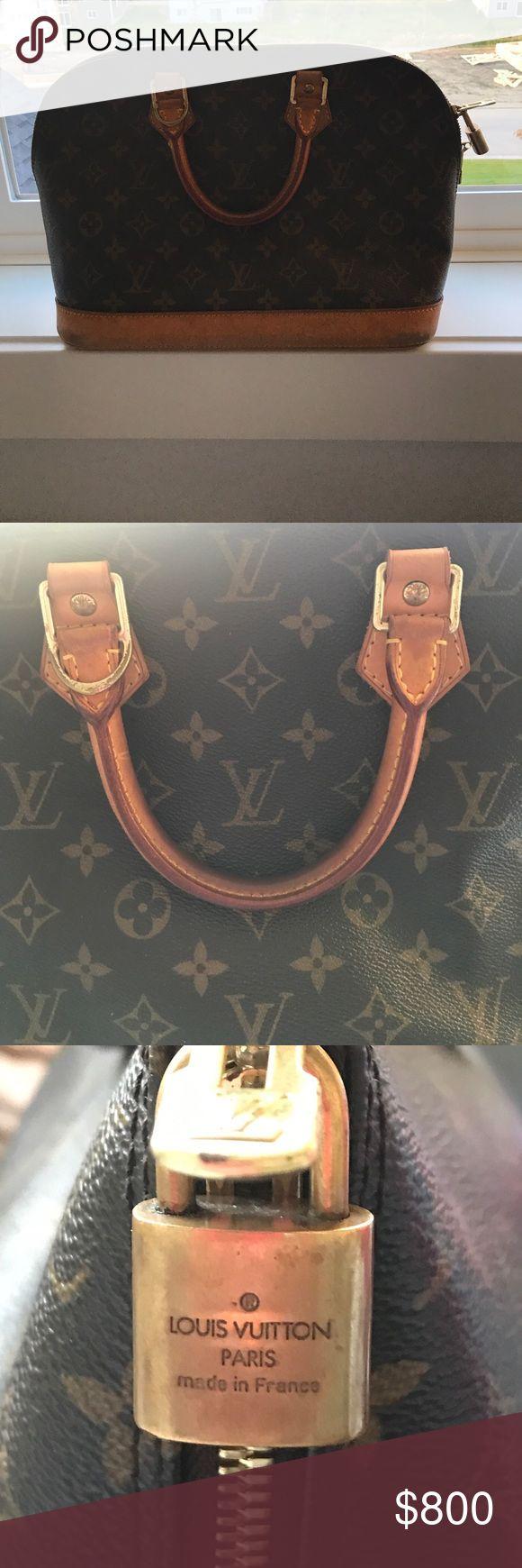Louis Vuitton Alma Handbag Used Louis Vuitton Alma handbag. Signature LV monogram canvas. Louis Vuitton Bags