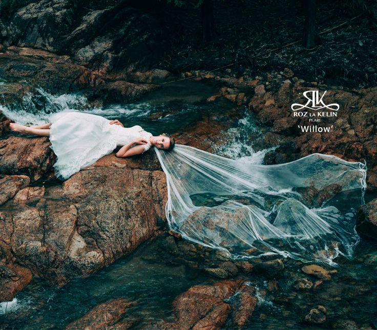'Willow' l Roz la Kelin Pearl Collection  Whimsical wedding, tea-length gown, boho wedding, magical wedding