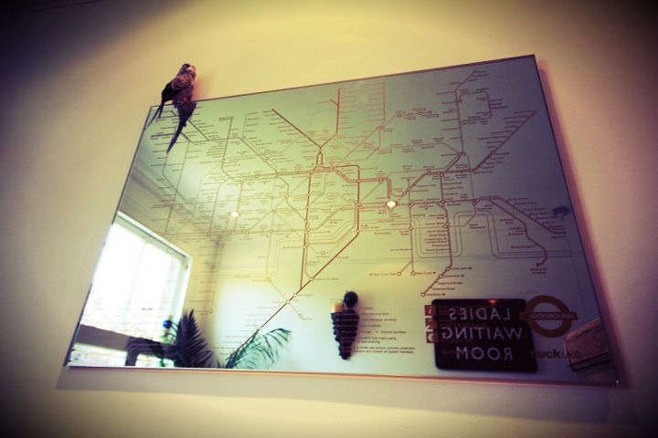 Bathroom, Tube map, London Underground mirror, Victorian House, Renovation.