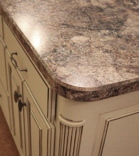 Antiqued Marble Countertops: 3466-RD Soft Gray Brown With Dynamic Patterning: Formica 180fx