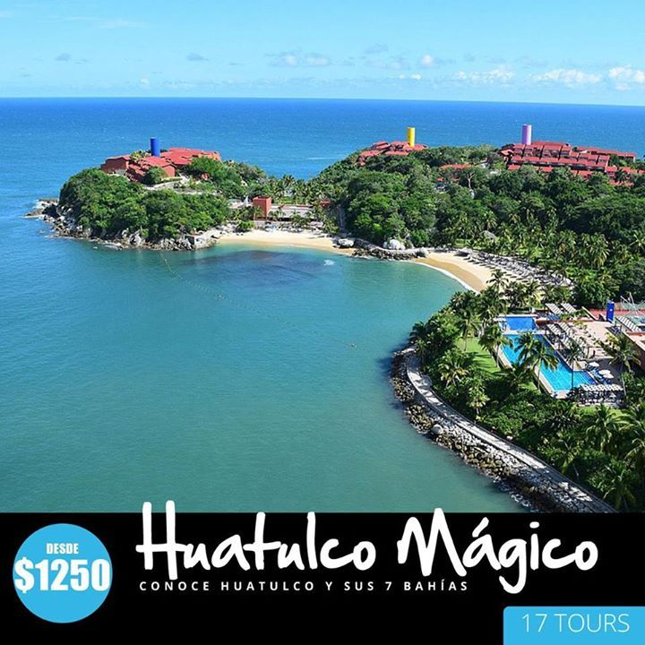 Tour Huatulco Mágico Ven a conocer las hermosas Bahías de Huatulco en un recorrido por las 7 bahías puedes nadar nadar y comer deliciosas especialidades en mariscos después visitamos el pueblo los miradores y su zona hotelera. Aparta tu Tour http://ift.tt/2m3QChz Conoce y disfruta Puerto Huatulco y Oaxaca - 17 Tours - Divertanse de forma segura con Guías Profesionales. #yosoypascon
