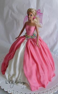 Torta Barbie principessa rosa