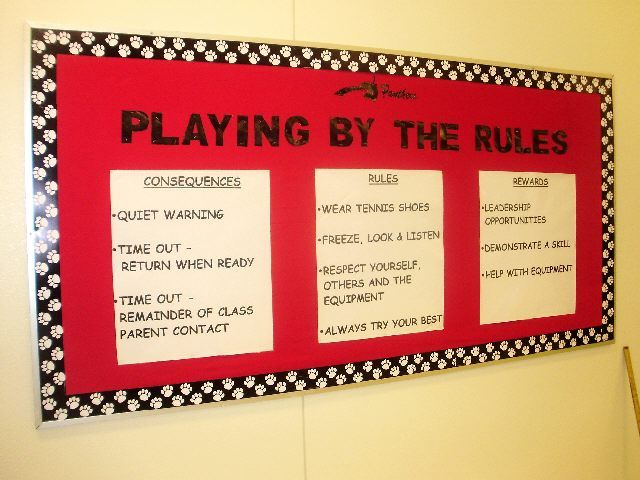 PEC: Bulletin Boards for Physical Education Love these!
