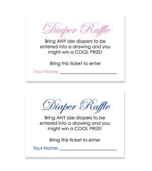 Baby Theme Diaper Raffle Ticket