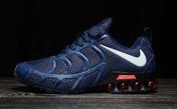 free shipping 0f90b 773ae Nike Air Shox KPU 2019 Navy Blue White Shox R4 Men s Athletic Running Shoes