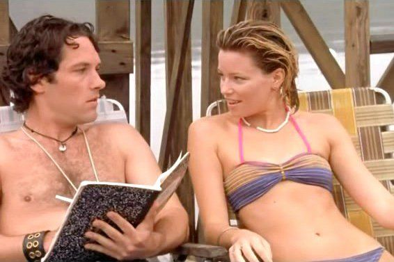 Pin for Later: The Best Bikini Moments in Movies Elizabeth Banks, Wet Hot American Summer It's a good thing Elizabeth Banks can pull off a sexy bikini, 'cause we heard she tastes like a burger.