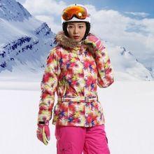US $124.22 2017 New Mountain Ski Jackets Women Warm Windbreaker Warm Coat Female Waterproof Snowboard Jacket Hooded Outdoor Sports Clothing. Aliexpress product