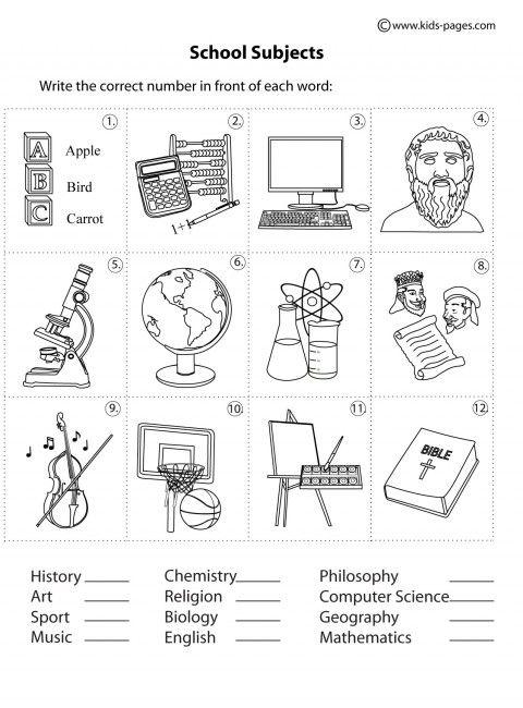 18 best school sujects images on Pinterest | School, Activities ...