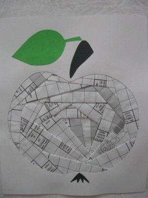 Jablíčko 1 - Iris Folding, koláž