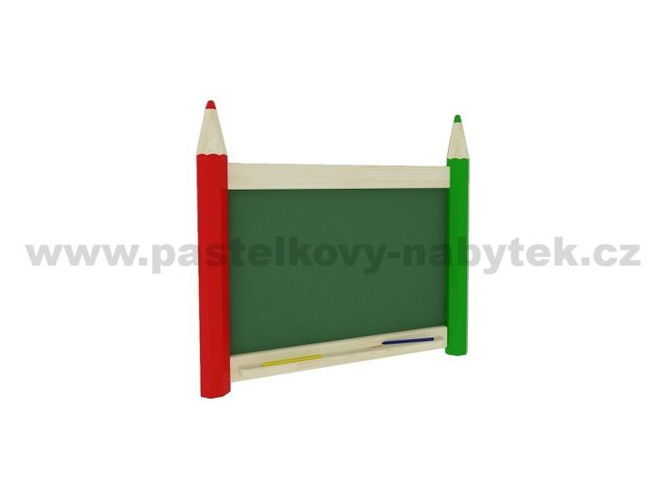 Nástěnná tabule na křídy malá | Dětský dřevěný nábytek - BOB nábytek