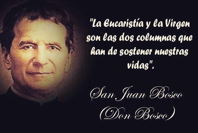 De nuestro amado San Juan Bosco aprendimos a amar aún con mayor fervor a nuestra amada Madre Maria en su advocación de Auxiliadora.  #salesianos #hijosdeMaria #Mariaauxiliadora #sanJuanBosco