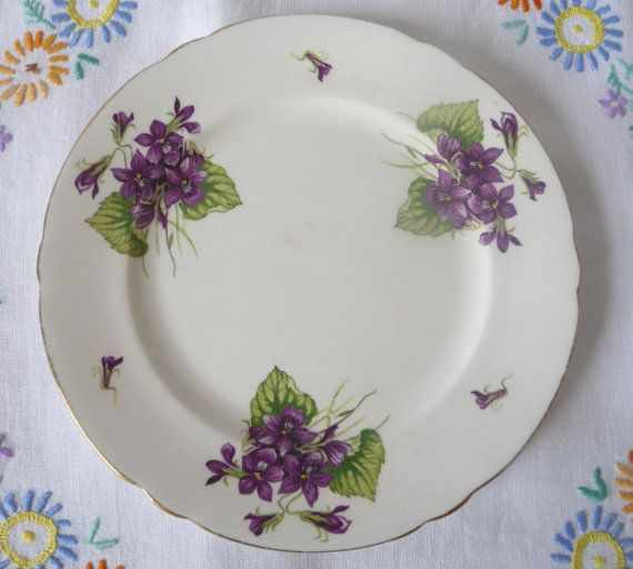 Vintage Shelley China Lunch Plate  8 20cms by GaslightTreasures, £18.00