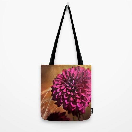 #photography #nature #flowers #floral #red #dahlia #closeup #macro available in different #homedecor products. Check more at society6.com/julianarw #totebag