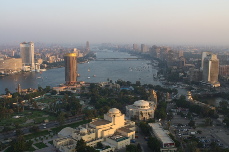 The view from the Cairo tower is breathtaking    http://en.wikipedia.org/wiki/Cairo_Tower