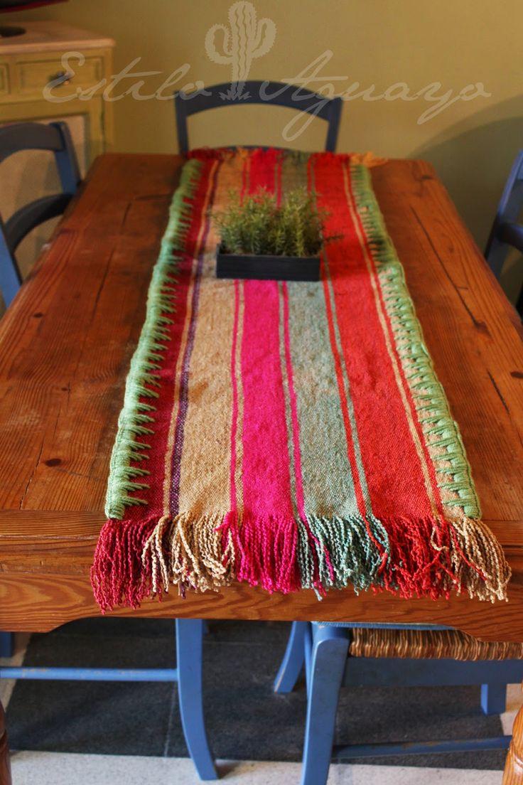 Camino para decorar la mesa: Estilo Aguayo