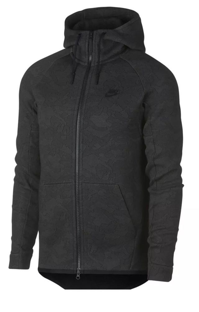 Nike Tech Fleece Full Zip Hoodie Men's Sz L Midnight Black