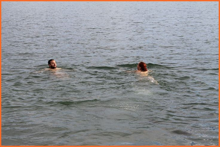Refreshing swimming with Mosquito Staff:)