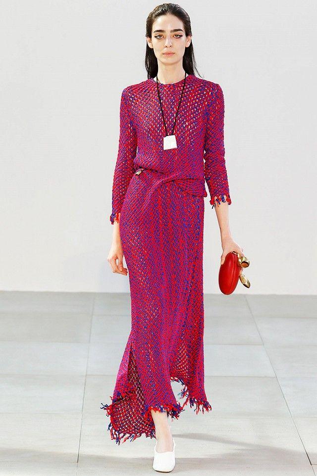 Hot pink dress at Celine S/S 15