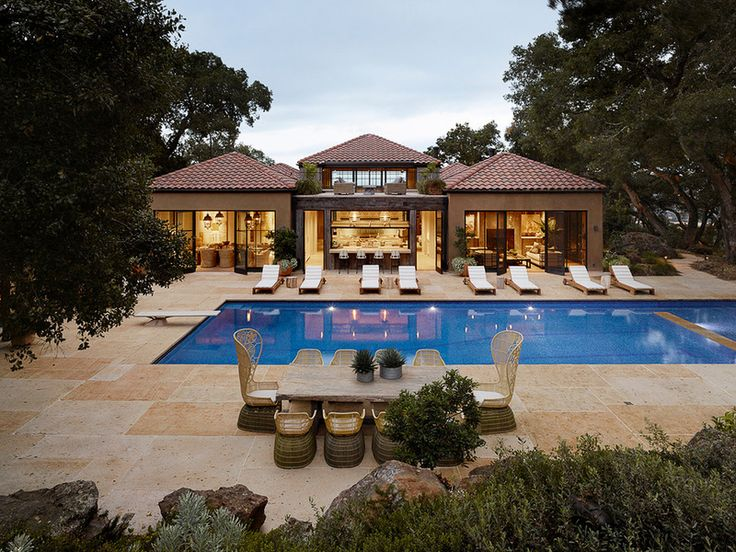 Mediterranean pool by ken linsteadt architects forget for Mediterranean country house