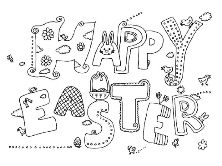 Google Easter Coloring Pages