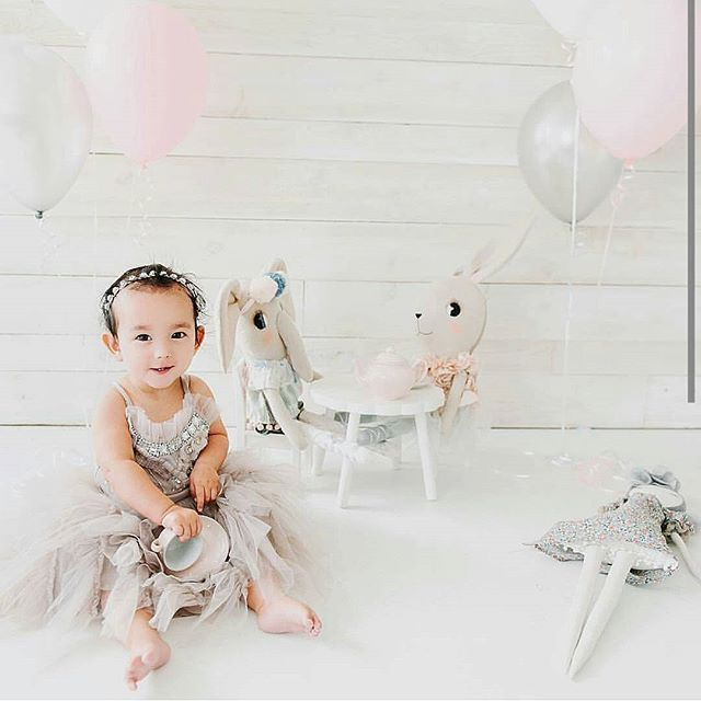 such a beautiful image by @loriromneyphotography of @izabella_tovar darling birthday girl! Thank you for letting me share @izabella_tovar hope your babe enjoyed her day!  Tap for details #clothandthread #mavendolls  #elodieelephant #rosarabbit #loriromneyphotography #izabellatovar