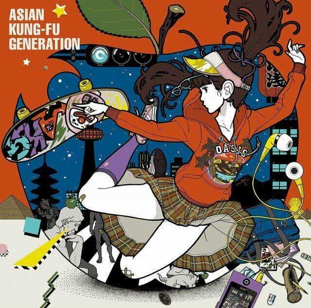Ajikan. Asian Kung-fu Generation. 2017. New single. Goto. Kita. Kiyoshi. Yamada.