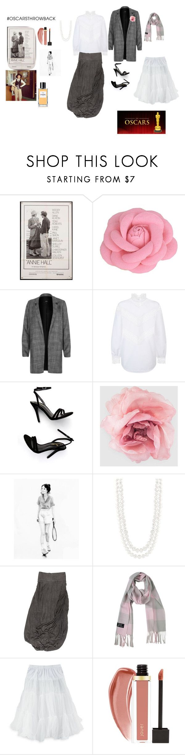 """""""Diane Keaton - Best Actress 1978 Annie Hall"""" by sweetpeachbellini ❤ liked on Polyvore featuring River Island, Sandro, LULUS, Gucci, Masako, Yigal AzrouÃ«l, Le Nom, Chanel, redcarpetstyle and OscarsThrowback"""