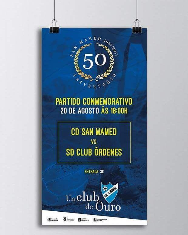 Y gooool del yeti!  Diseño de cartel para el partido conmemorativo del 50 aniversario del C.d. San Mamed  Ahora a cumplir 50 más  #diseñoGalicia #galiciaDiseño #Yeti #galiciaCalidade #galicia #diseño #comunicacion #love #vedra #santiagoDC #trabajoBienHecho #imagenCorporativa #instagood #happy #swag #design #graphicDesign #amazing #bestOfTheDay #art #creatividad #creative #futbol #cantera #futbolBase #oro #gold #gol