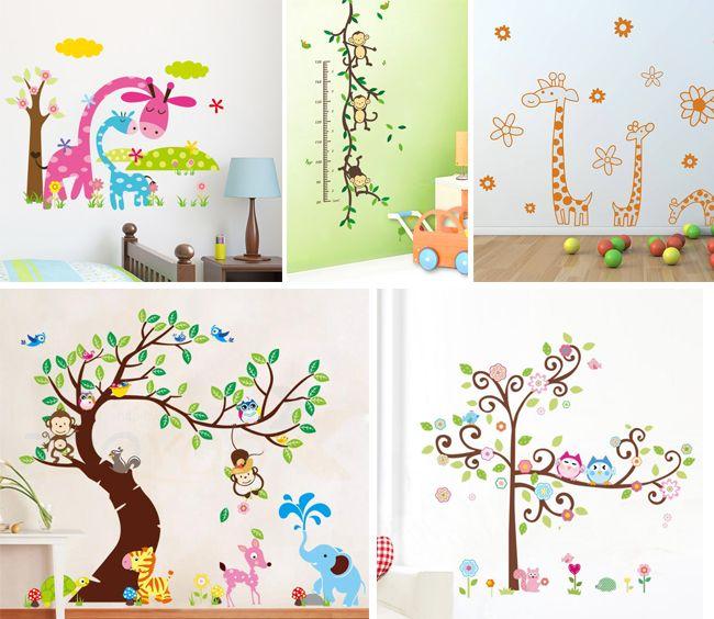 Los adhesivos son algo espectacular que nunca pasa de moda, estos pueden hacer que cada pared haga volar la imaginación de los niños. #decoracion #deco #vivienda #ideas #decorar