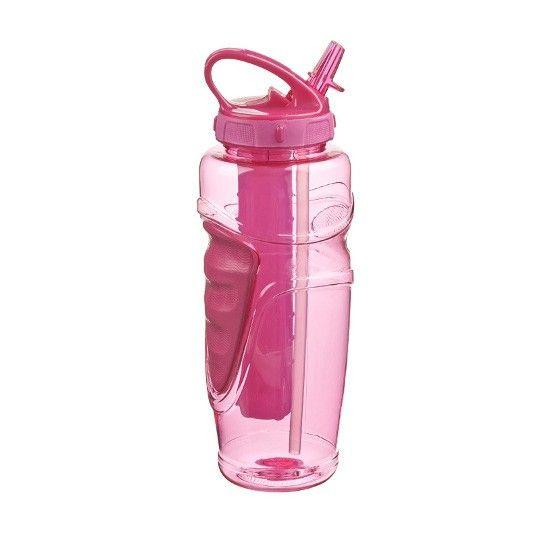 Butelka Solstice została zaprojektowana, aby uprawianie sportów cieszyło jeszcze bardziej. To profesjonalne akcesorium dzięki zamieszczonemu w nim żelowemu, nietoksycznemu wkładowi chłodzącemu dostarczy Ci chłodnego napoju podczas fizycznych zmagań. Butelka została wykonana z tritanu, który jest niezwykle trwały i odporny za zarysowania oraz nie pochłania zapachów. Posiada specjalnie wyprofilowane gumowe wykończenie, a po przeciwnej stronie wgłębienie na kciuk.