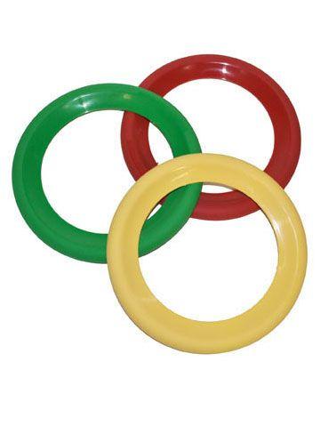 Juego 3 anillos malabares payaso 20 cm