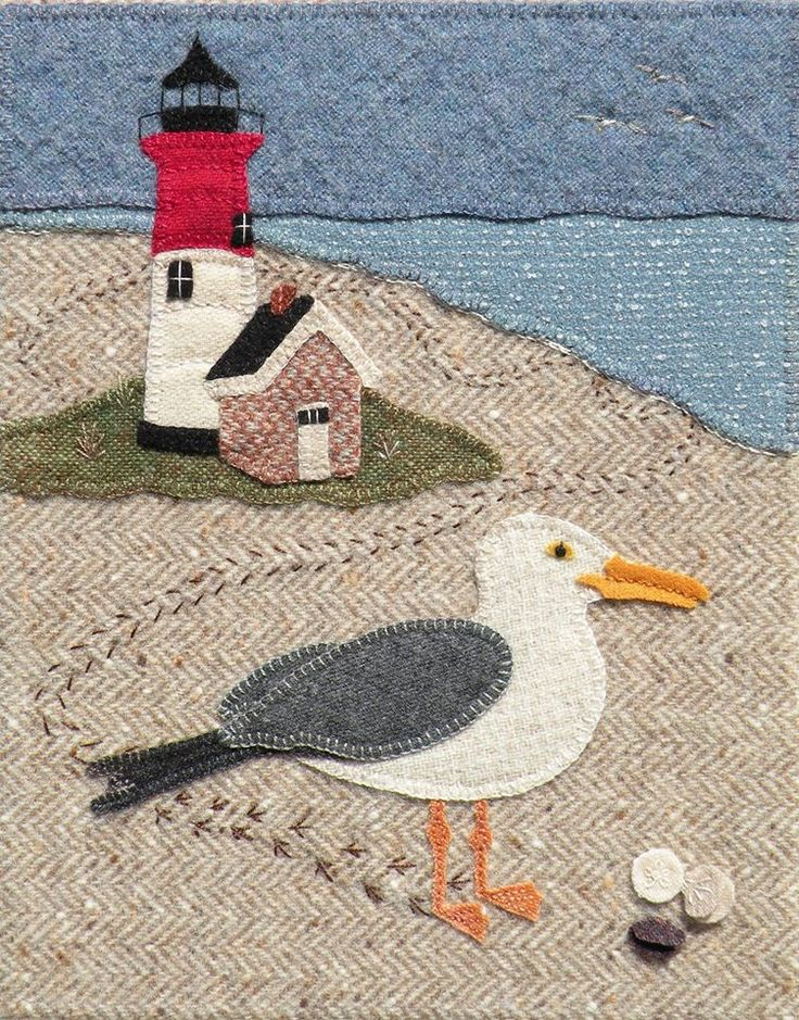 "Kathy Gaul: This is ""Nessy Visits Nauset"" by Meetinghouse Hill Designs, sized 8.5"" x 10.5"". http://stores.meetinghousehilldesigns.com/nessy-visits-nauset-pattern/ Cost of pattern is $15."