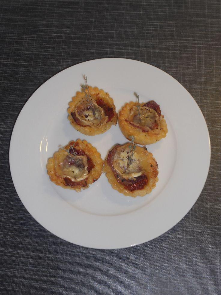 mini-tartelettes magret de canard et chèvre