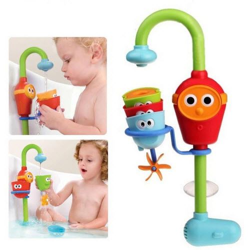 2016 Hot Multicolor Fun Baby bath toys automatic spout play taps/buttressed folding spray showers toy faucet play with water //Price: €23.77 & FREE Shipping //   #fashion #baby #clothes #trendy #2017